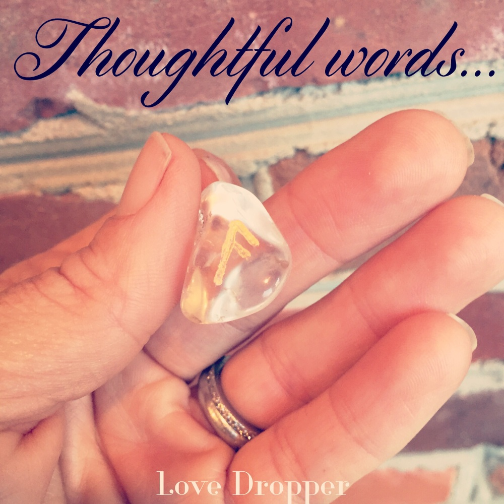 I love my quartz crystal runes for helping me tap into divine guidance.