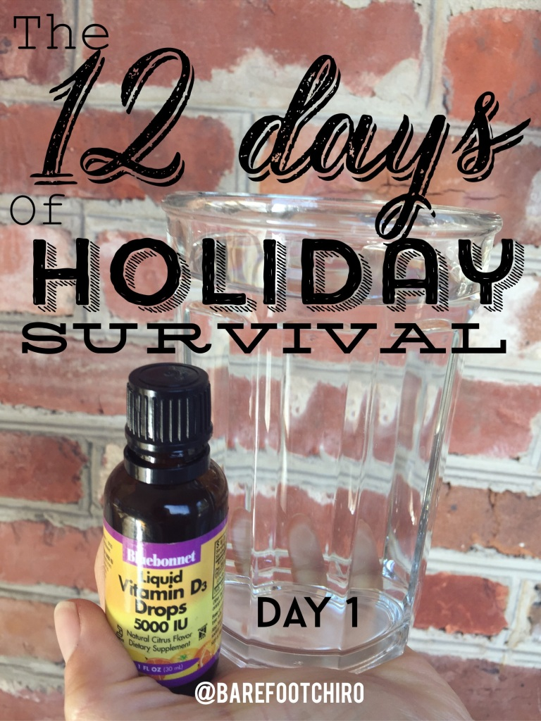 Day 1 of the 12 days of Health Holiday Survival Guide.