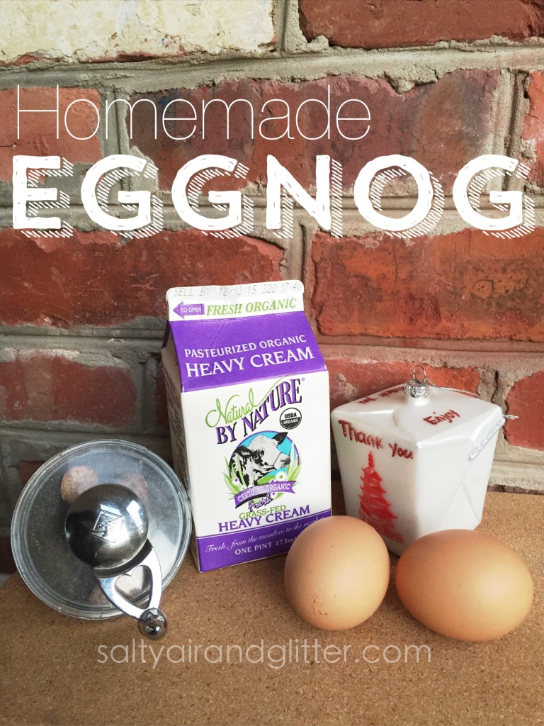 I love this homemade eggnog recipe... It is serious & delish✨