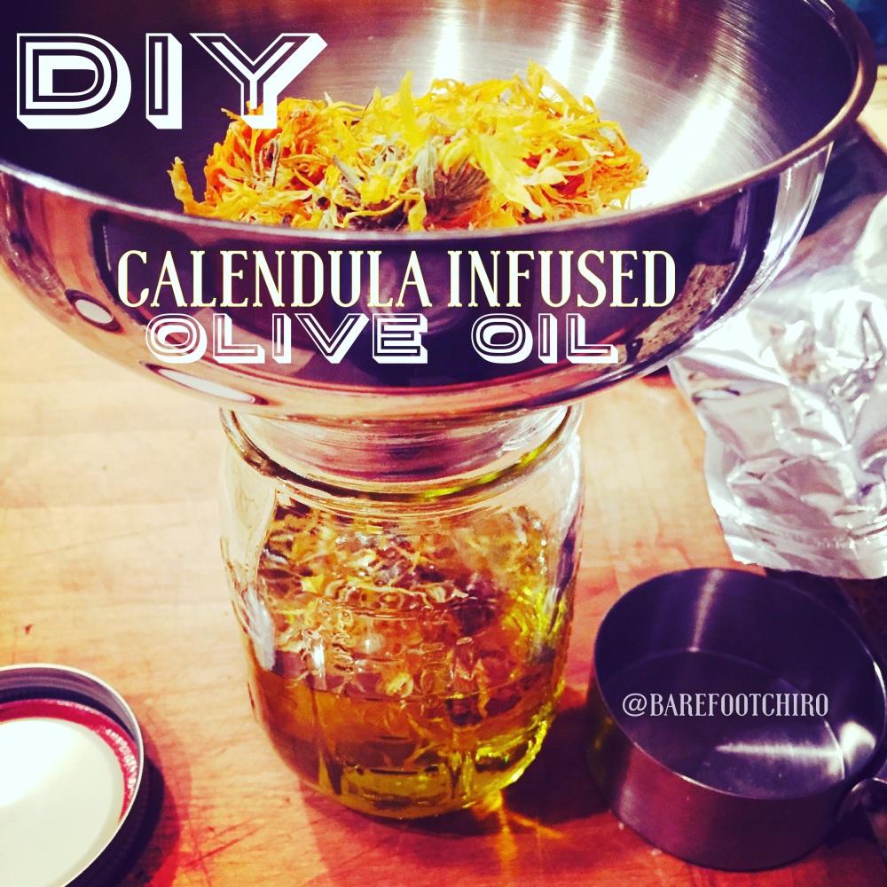 Super easy....DIY calendula infused olive oil✨