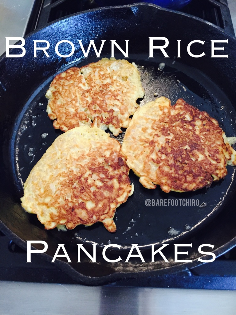 I love how easy these brown rice pancakes are to make.