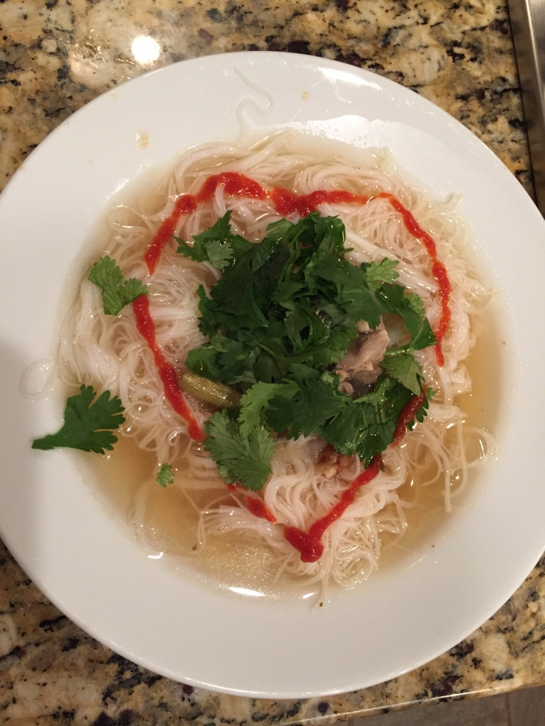 This is my homemade Pho… The recipe for my Cast Iron Collards is here too :)