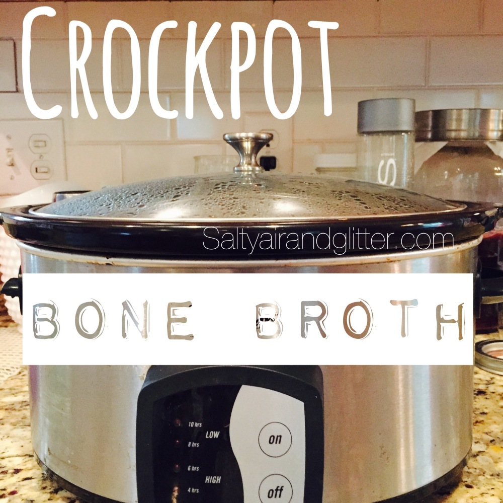 Super easy crockpot bone broth...