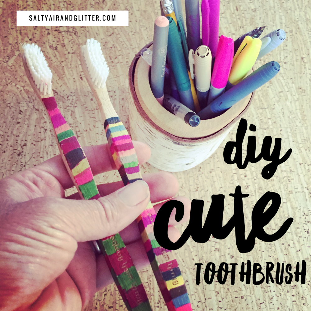Super cute DIY toothbrush for your kids.