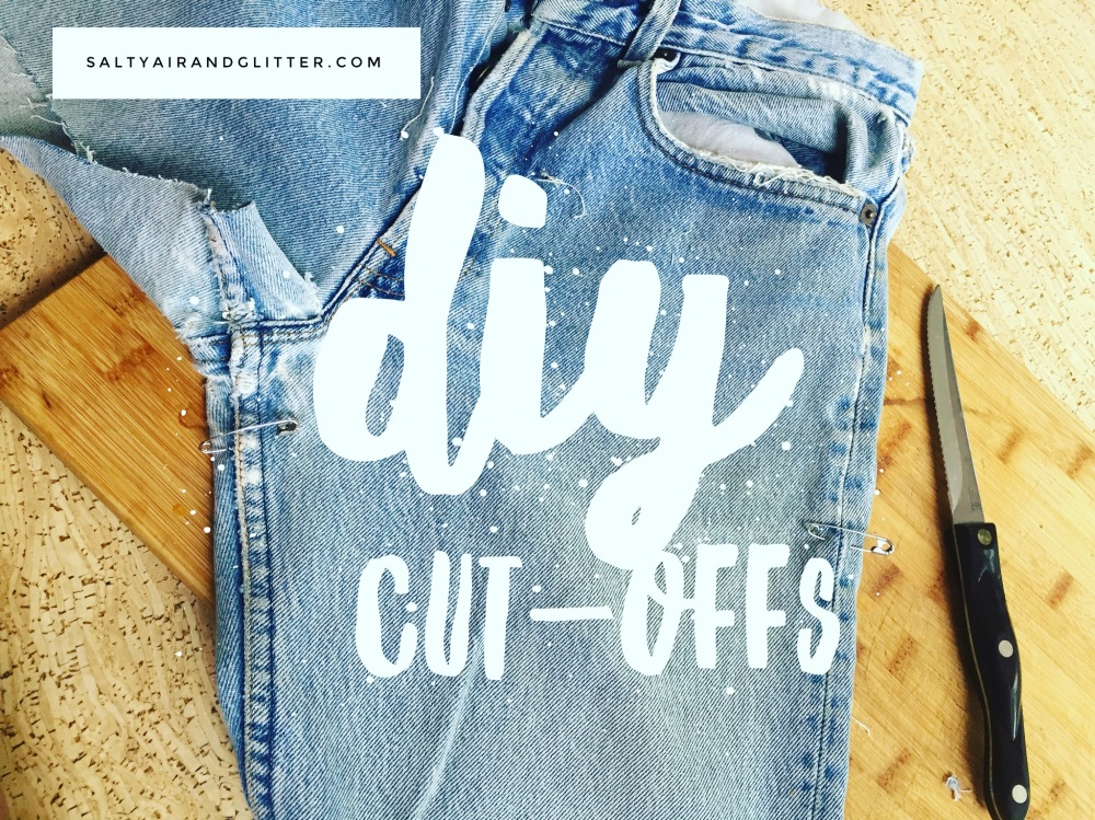 These jeans have so much history with me & now they get to transform into super cute cut offs!